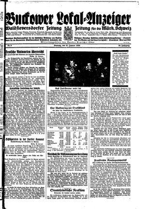 Buckower Lokal-Anzeiger vom 21.01.1934