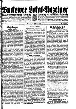 Buckower Lokal-Anzeiger vom 23.01.1934