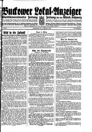Buckower Lokal-Anzeiger vom 01.02.1934
