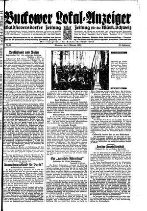 Buckower Lokal-Anzeiger vom 06.02.1934