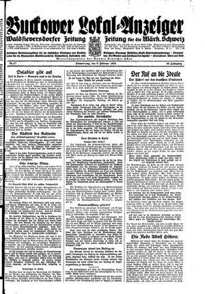 Buckower Lokal-Anzeiger vom 08.02.1934
