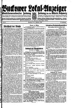 Buckower Lokal-Anzeiger vom 11.02.1934