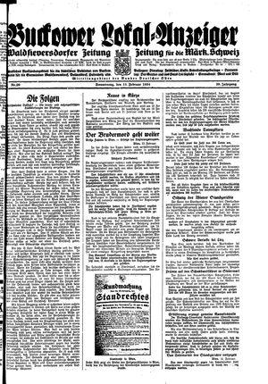 Buckower Lokal-Anzeiger vom 15.02.1934