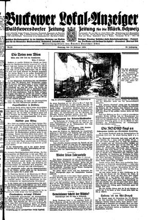 Buckower Lokal-Anzeiger vom 18.02.1934