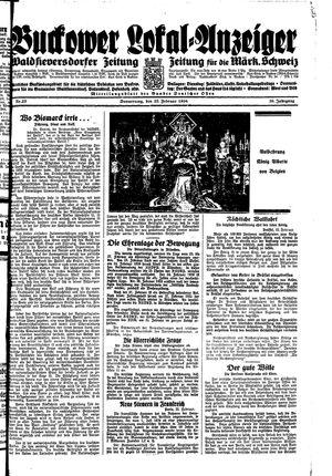 Buckower Lokal-Anzeiger vom 22.02.1934