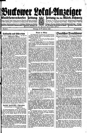 Buckower Lokal-Anzeiger vom 27.02.1934