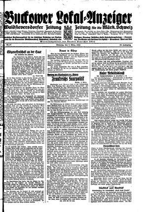 Buckower Lokal-Anzeiger vom 04.03.1934