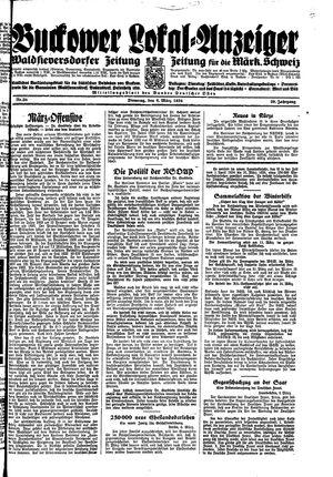Buckower Lokal-Anzeiger vom 06.03.1934
