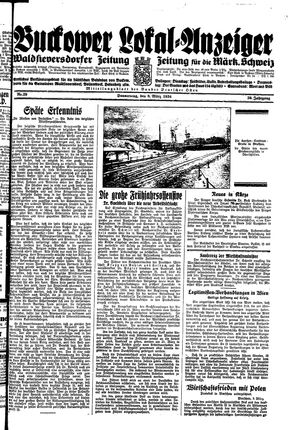Buckower Lokal-Anzeiger vom 08.03.1934