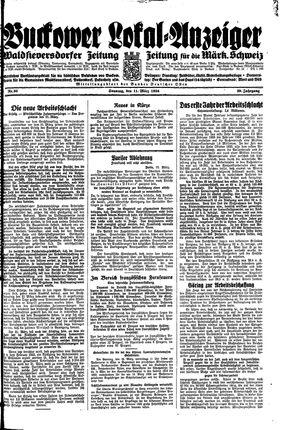 Buckower Lokal-Anzeiger vom 11.03.1934