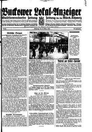 Buckower Lokal-Anzeiger vom 13.03.1934