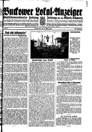Buckower Lokal-Anzeiger vom 15.03.1934