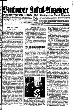 Buckower Lokal-Anzeiger vom 18.03.1934