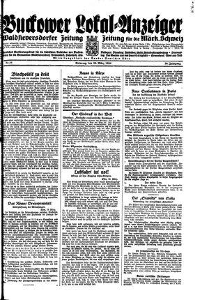 Buckower Lokal-Anzeiger vom 20.03.1934
