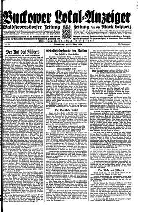 Buckower Lokal-Anzeiger vom 22.03.1934