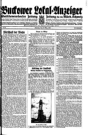 Buckower Lokal-Anzeiger on Mar 25, 1934