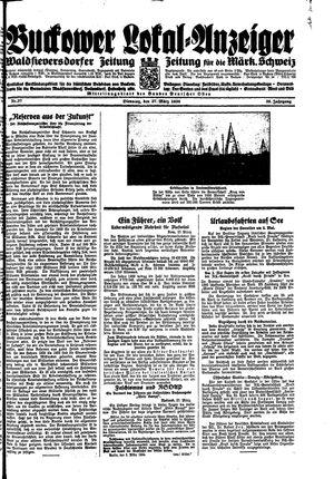 Buckower Lokal-Anzeiger vom 27.03.1934