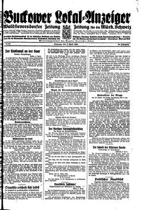 Buckower Lokal-Anzeiger vom 03.04.1934