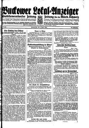 Buckower Lokal-Anzeiger vom 05.04.1934