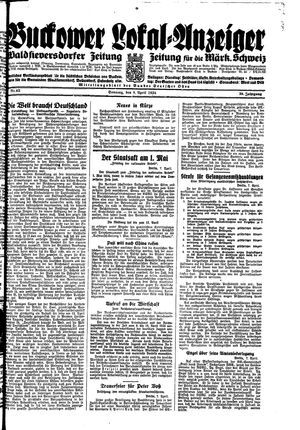 Buckower Lokal-Anzeiger vom 08.04.1934