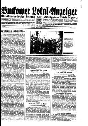 Buckower Lokal-Anzeiger vom 10.04.1934