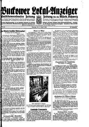 Buckower Lokal-Anzeiger vom 15.04.1934