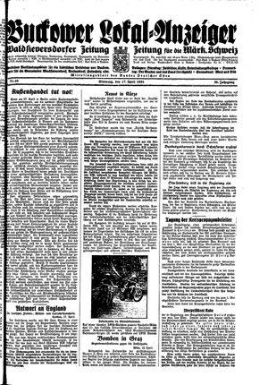 Buckower Lokal-Anzeiger vom 17.04.1934