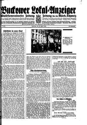 Buckower Lokal-Anzeiger vom 22.04.1934