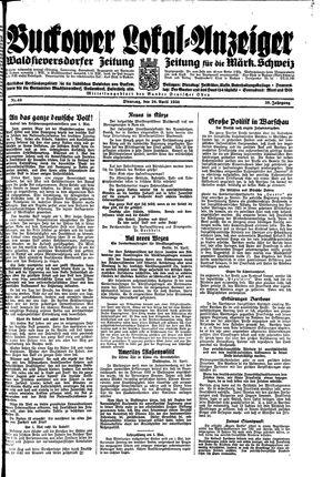 Buckower Lokal-Anzeiger vom 24.04.1934