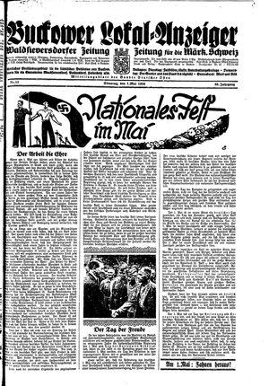 Buckower Lokal-Anzeiger vom 01.05.1934