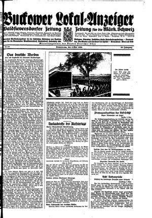 Buckower Lokal-Anzeiger vom 03.05.1934