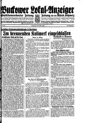 Buckower Lokal-Anzeiger vom 08.05.1934