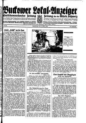 Buckower Lokal-Anzeiger vom 10.05.1934