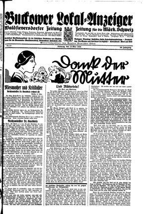 Buckower Lokal-Anzeiger vom 13.05.1934