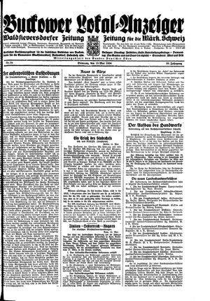 Buckower Lokal-Anzeiger vom 15.05.1934