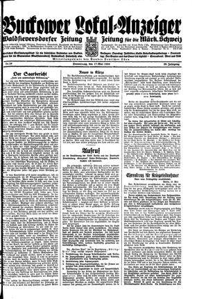 Buckower Lokal-Anzeiger vom 17.05.1934