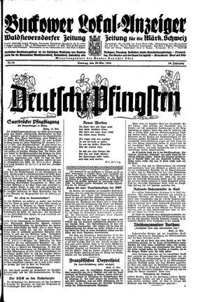Buckower Lokal-Anzeiger vom 20.05.1934
