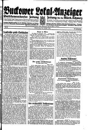Buckower Lokal-Anzeiger vom 24.05.1934