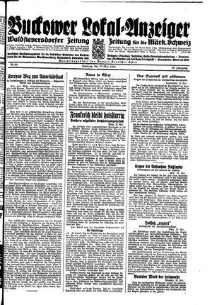 Buckower Lokal-Anzeiger vom 27.05.1934