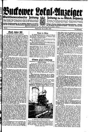 Buckower Lokal-Anzeiger vom 31.05.1934