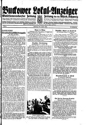 Buckower Lokal-Anzeiger vom 03.06.1934