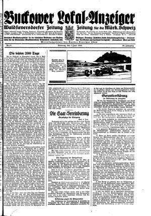 Buckower Lokal-Anzeiger vom 05.06.1934