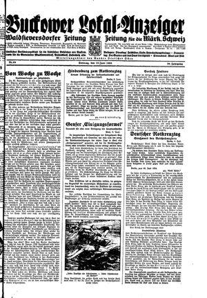 Buckower Lokal-Anzeiger vom 10.06.1934