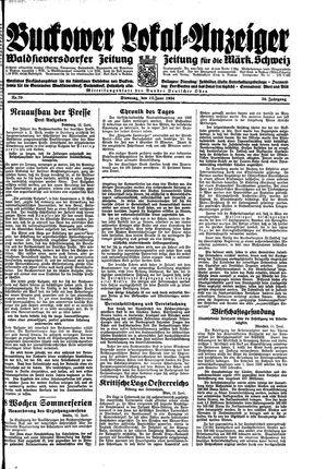 Buckower Lokal-Anzeiger vom 12.06.1934