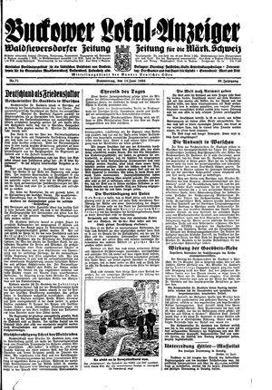 Buckower Lokal-Anzeiger vom 14.06.1934