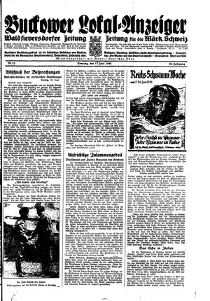 Buckower Lokal-Anzeiger on Jun 17, 1934