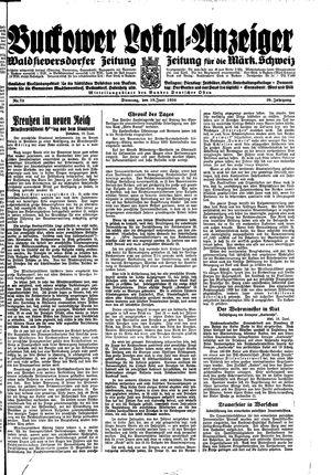 Buckower Lokal-Anzeiger vom 19.06.1934