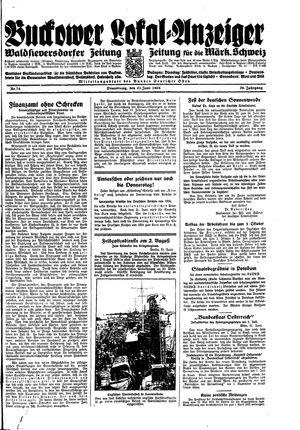 Buckower Lokal-Anzeiger vom 21.06.1934