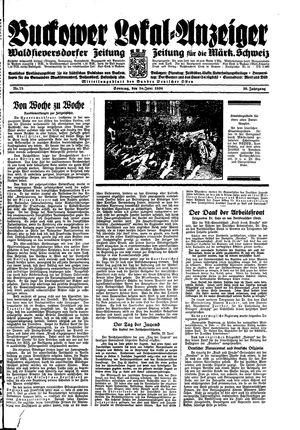 Buckower Lokal-Anzeiger vom 24.06.1934