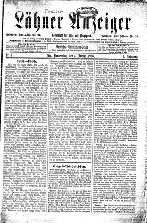 Lähner Anzeiger vom 04.01.1906